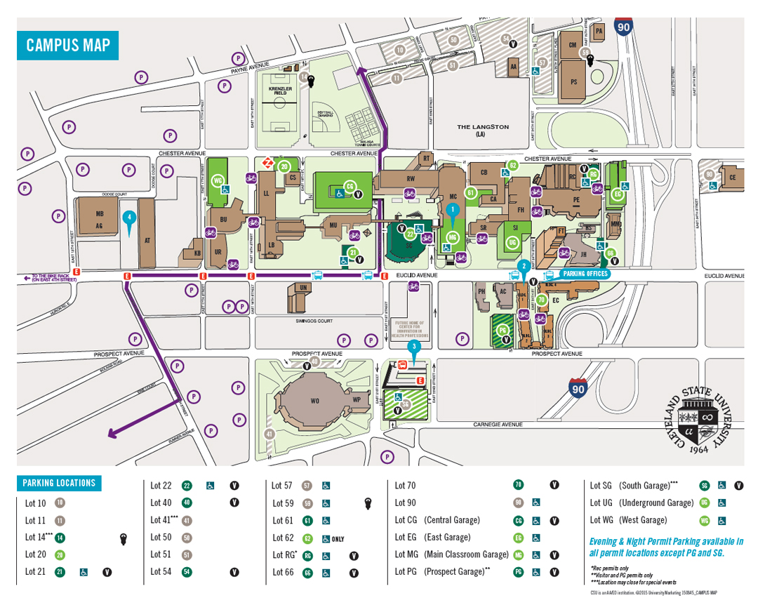 Campus Map Parking and Mather Mansion Pathways to Chemistry