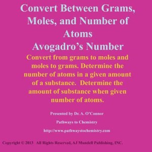 Convert Between Moles, Grams, and Number of Atoms