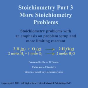 Stoichiometry Part 3