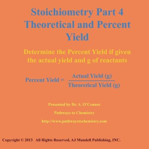 Stoichiometry Part 4 Calculate Percent Yield